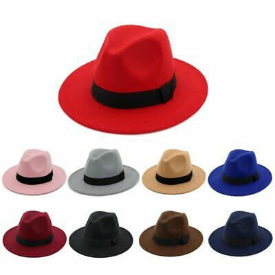 Fedora Hat Mens Womens Ladies Trilby Unisex Festival Spring Winter Wedding Prom