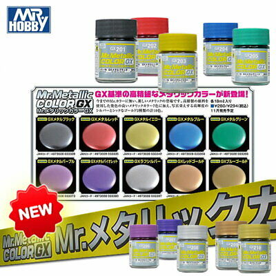 Gunze GSI Mr. Hobby Color Clear Metallic Lacquer GX1~GX217 Model Kit Paint 18ml