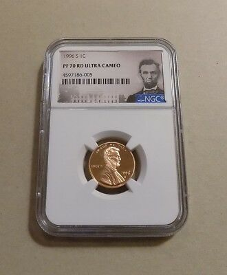 1996 S 1c LINCOLN MEMORIAL CENT PENNY NGC PF70 RD ULTRA CAMEO PORTRAIT LABEL