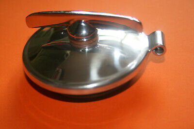 Matchless Norton Bsa Royal Enfield Polished Alloy Petrol Tank Cap 68-8083