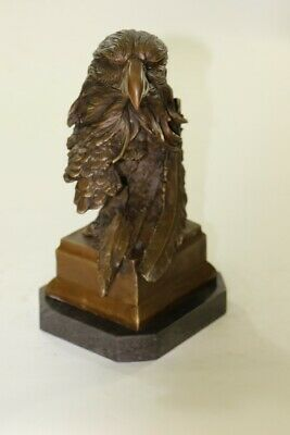 Large Solid Cast Bronze American Eagle Sculpture on Marble Fisher Hot Cast Deal