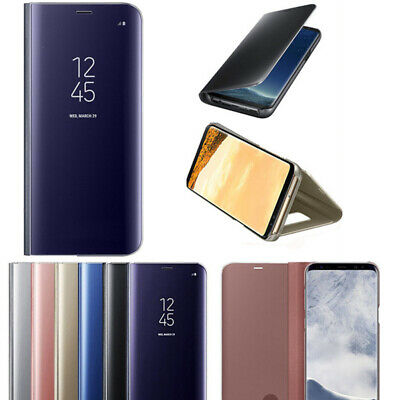 For Sumsung S6/S7/S8/S9/S10 Smart Mirror View Leather Flip Stand Case Cover