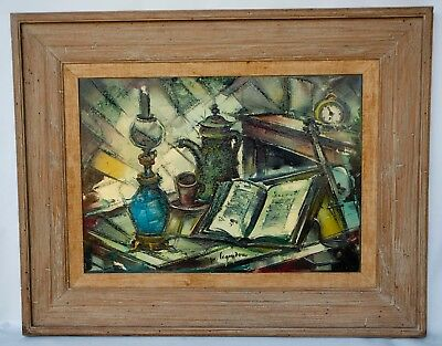LARGE Vintage Oil On Canvas Signed By Artist Maurice Legendre French STILL LIFE