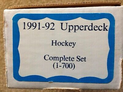 1991-92 Upper Deck Hockey Complete Set 1-700 Four SGC Graded Cards Included