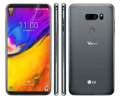 LG V35 ThinQ (AT&T) GSM Unlocked- 64GB - Android - Smartphone - Silver