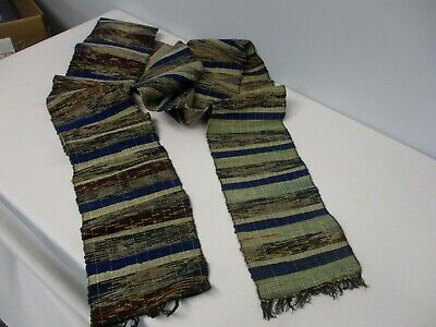 "ANTIQUE HAND WOVEN JAPANESE OBI TEXTILE SCARF SHAWL 6 1/2"" WIDE x 116"""