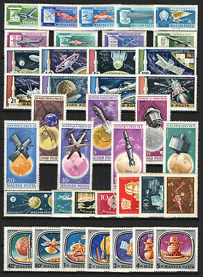 Hungary 1959-1976. 5 complete sets, nice topical stamp collection MNH (**)