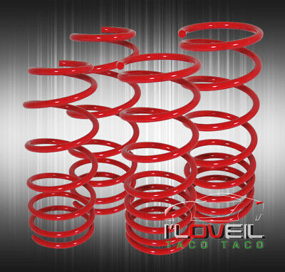 92-01 Honda Prelude Si Type-Sh Bb2-Bb6 Suspension Coil Lowering Spring Kit Red