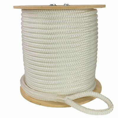 "Double Braid Polyester Cable Wire Pull Pulling Rope W/ 6"" Spliced Eyes All Sizes"