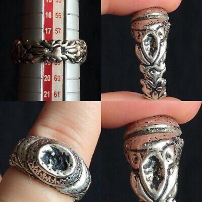 ancient medieval Byzantine time bronze ring