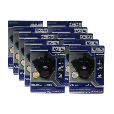Wholesale Lot of 10 PS2 PS1 Controller Converter to PS3 PC USB Adapter KMD (Nw)