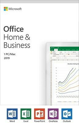Microsoft T5D-03203 Office 2019 Home & Business - Box Pack - Medialess