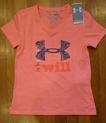 defa1b06 Nwt Under Armour Shirt Loose Charged Cotton Girls Youth Small Medium Large  Xl