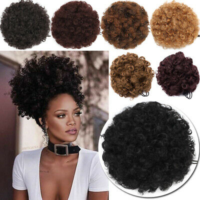 50/65g Thick Drawstring Afro Bun Puff Kinky Curly Pony Tail Hair Extensions BUNS