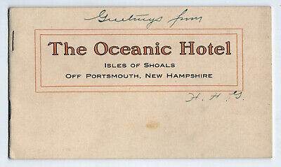 1900s OCEANIC HOTEL Booklet ISLES OF SHOALS Portsmouth New Hampshire RARE Photos