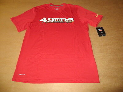 Discount SAN FRANCISCO 49ERS Nike NFL Dri Fit Legend Team Tee (Red) NWT Men's  hot sale