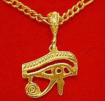LOOK Egyptian EYE OF HORUS Celtic pendant charm Gold Plated