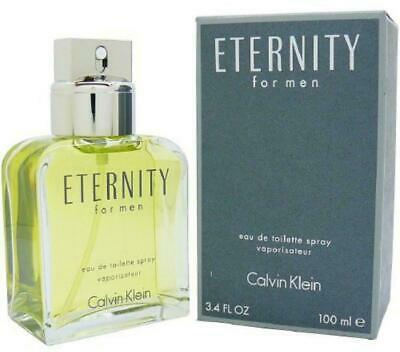 CALVIN KLEIN ETERNITY *FOR MEN* 3.4oz / 100ml  EDT SPRAY *CK PERFUME* NEW SEALED