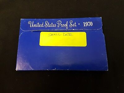 1970-s Small Date US Proof set. Genuine. Complete and original as issued by US