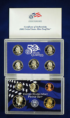 2006-s U.S. Proof Set. Complete and Original in BLUE  mint paper box