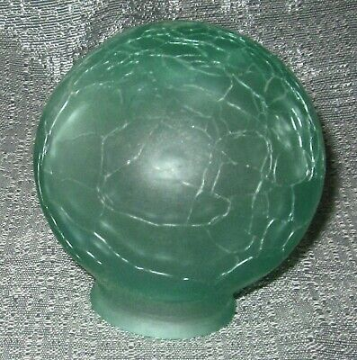"Frankart 3"" Dia. & 1-1/2"" fitter lamp globe 1920's art deco frosted green glass"