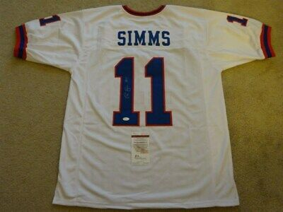 a255ff62a PHIL SIMMS SIGNED Auto New York Giants White Jersey Jsa Autographed ...