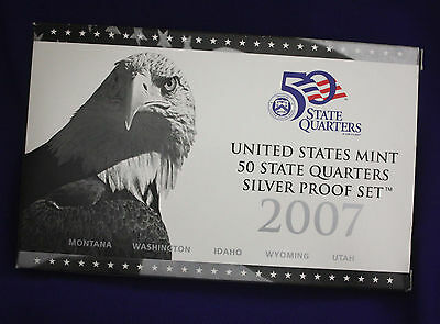2007 U.S. Mint SILVER 50 State Quarter Proof Set. In original GRAY box.