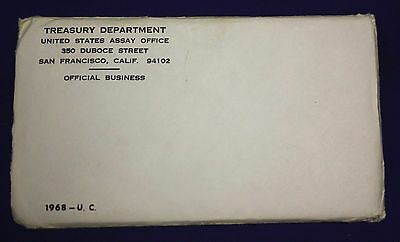 1968 UNCIRCULATED Genuine U.S. MINT SETS ISSUED BY U.S. MINT