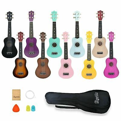 21 inch Apelila Soprano Ukulele 4 Strings Instrument Mini Acoustic Guitar w/ Bag
