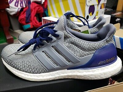 862e20712 Men s Brand New Adidas UltraBoost Collegiate Navy  AQ5928  SAMPLE RARE ...