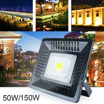 50W 150W Waterproof LED Flood Light Ultra-Thin Lamp Outdoor Security Spotlights