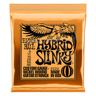 Ernie Ball Hybrid Slinky Nickel Wound Electric Guitar Strings - 9-46 Gauge 2222