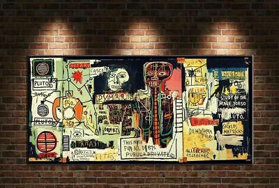 """Jean Michel Basquiat """"Notary"""" HD print on canvas large wall picture 55x28"""""""
