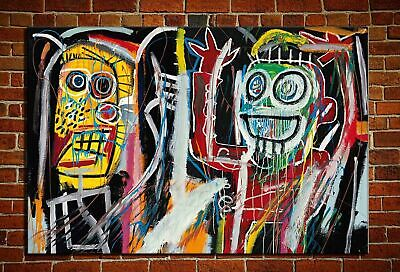 """Jean-Michel Basquiat """"Dustheads"""" HD print on canvas huge wall picture 36x24"""""""