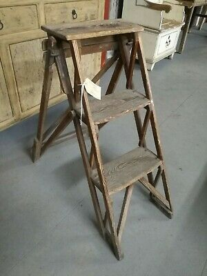 Reclaimed Set Of Victorian Pine Wooden Steps  -  Warwick Reclamation