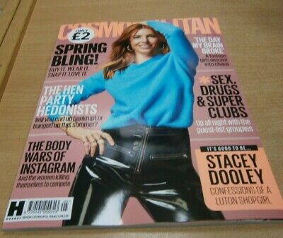 Cosmopolitan magazine MAY 2019 Stacey Doolwy, Sex Drugs & Super Clubs, Instagram