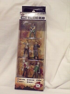 Amc Walking Dead Set Of 5 Miniature Figures New Free Usa Shipping Pack B