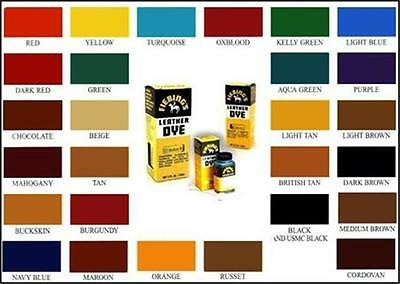 FIEBINGS LEATHER DYE 32 FL oz all colours available