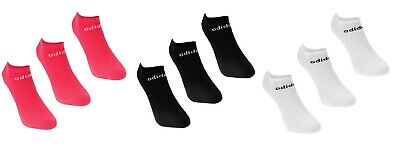 Adidas Ladies 3 Pair Pack No Show Trainer Liner Socks Ankle Sock Size 5 - 8 Uk