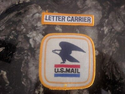 U.S. MAIL UNITED STATES POSTAL SERVICE 1 USPS WHITE & GOLD EAGLE PATCH 3.25 x3.5