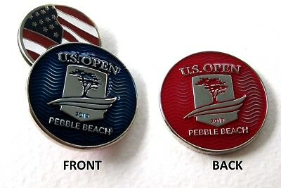 2019 US OPEN at PEBBLE BEACH CC, BLUE/RED, LARGE, BALL MARKER & USA HAT CLIP