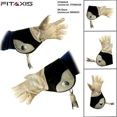 Falconry Suede Double skinned fleece Birds Hawk Gloves Specially for Cold Days..