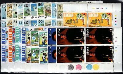 P109402/ Liberia / Blocks Of 4 / Lot 1995 – 1996 Neuf ** / Mint Mnh 230 €