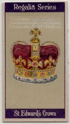 St. Edward's Crown Charles II  British Crown Jewels Coronation 1920s Trade Card