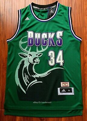 05d223889ac NBA HARDWOOD CLASSICS Milwaukee Bucks Ray Allen  34 Jersey XL ...