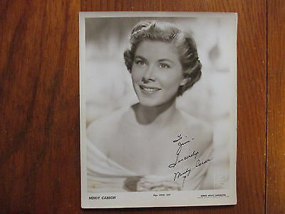"MINDY CARSON(""Wake the Town and Tell the People"")Signed 8x10 Black & White Photo"
