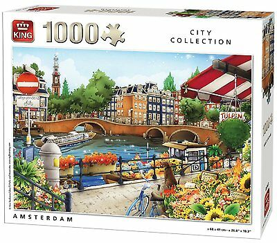 1000 Piece City Collection Jigsaw Puzzle - AMSTERDAM SQUARE PICTURE 05363