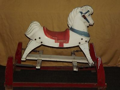 Vintage Childs Toy 1950S Ride On Rocking Horse Hobby Horse