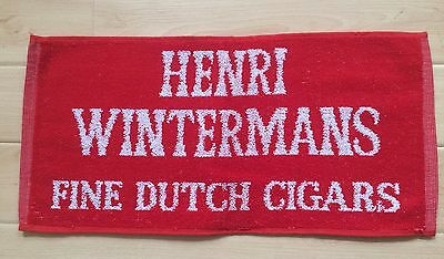 2 x RARE COLLECTABLE AND HTF HENRI WINTERMANS FINE DUTCH CIGARS - BAR/BEER TOWEL