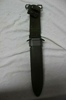 US Military Issue USGI WW2 WWII M8 Knife Scabbard Super Rare SHORT Scabbard SC1